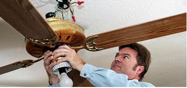 Hanging a ceiling fan