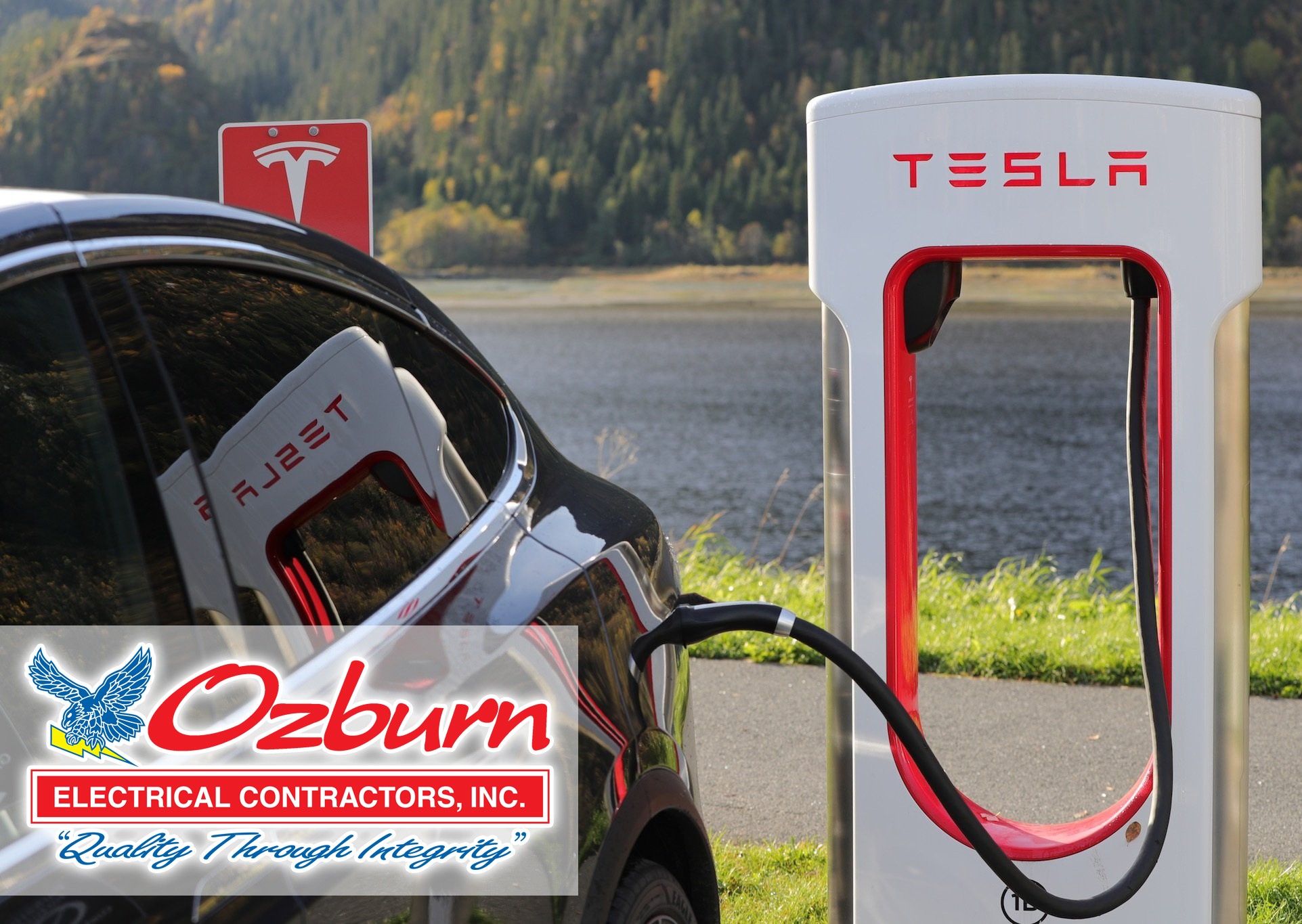 Ozburn Electric can install your electric vehicle charger