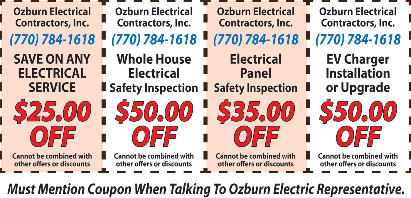 Ozburn Electric Coupon Deals